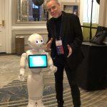 Keith McDonald with Robot